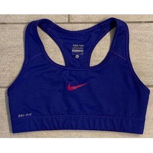 EUC Nike Pro Dri Fit Blue Sports Bra